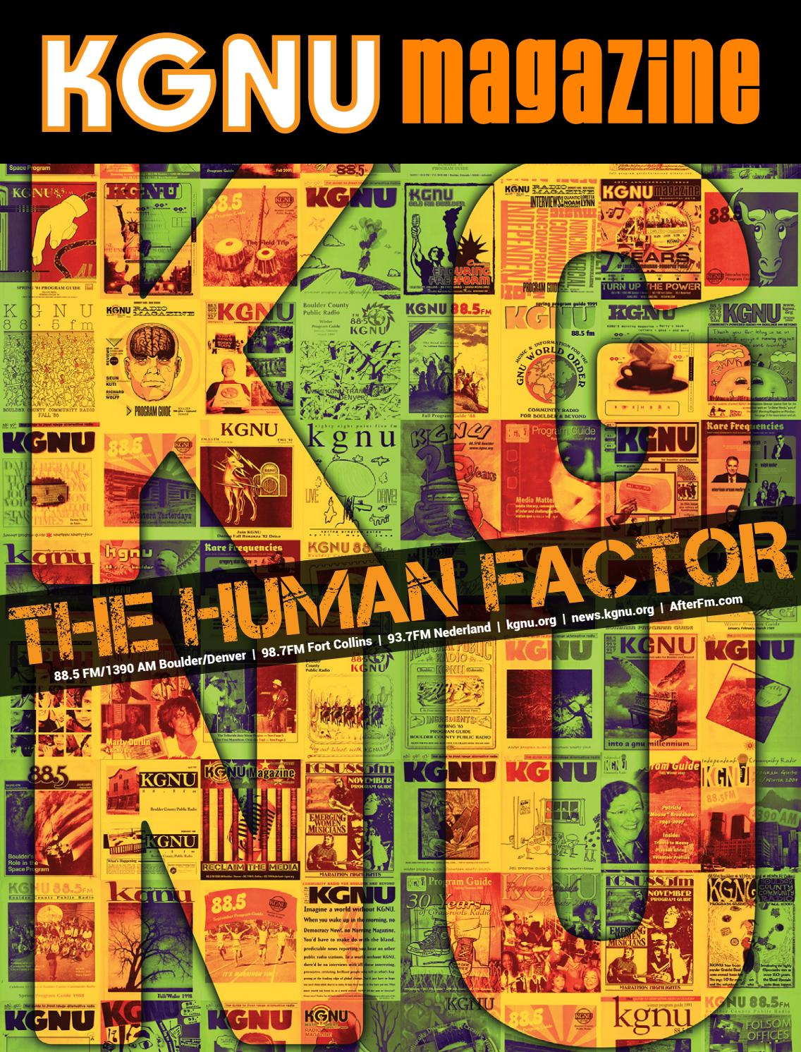 KGNU Magazine 2019: The Human Factor Issue by KGNU AM/FM