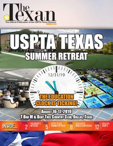 USPTA Texas Division Newsletter - The Texan - Summer 2019 by