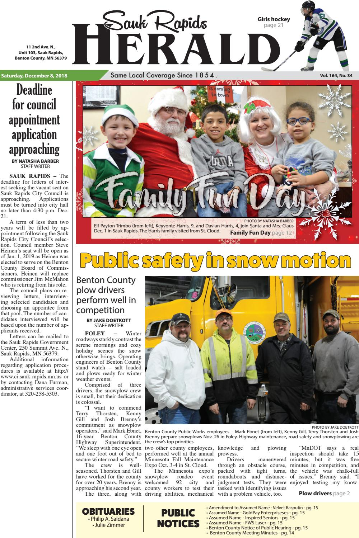 Sauk Rapids Herald - December 8 edition by Star Publications