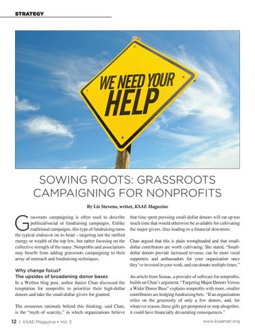 Page 12 of Sowing Roots: Grassroots Campaigning for Nonprofits