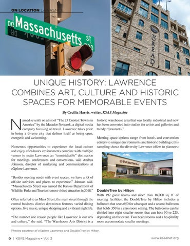 Page 6 of Unique History: Lawrence Combines Art, Culture and Historic Spaces for Memorable Events
