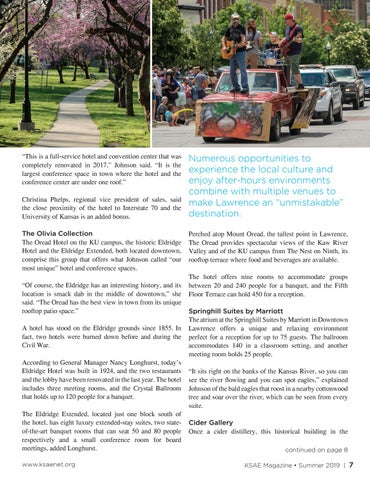 Page 7 of Unique History: Lawrence Combines Art, Culture and Historic Spaces for Memorable Events