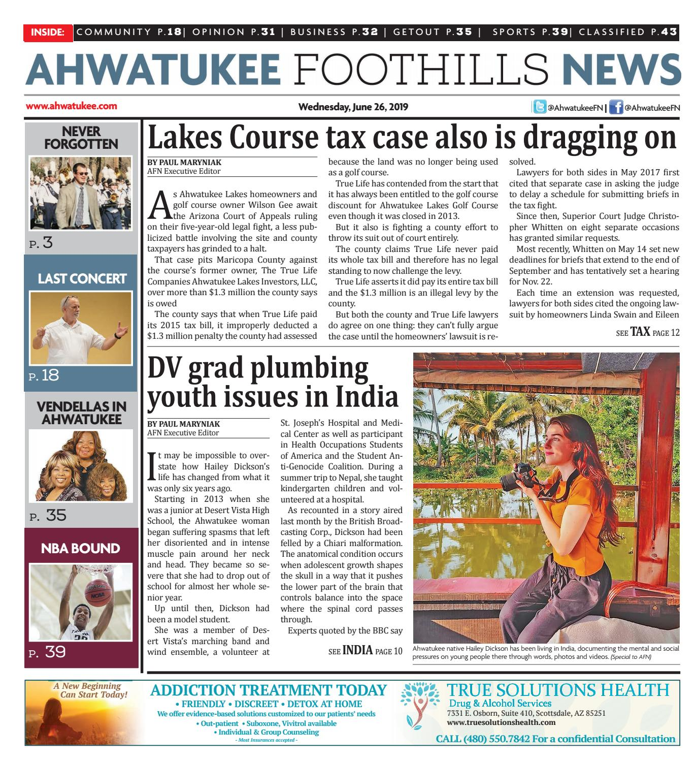 Ahwatukee Foothills News - June 26, 2019 by Times Media