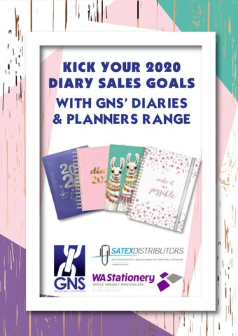 2020 A4 A5 Week to View Day to View Pocket Hardback Plastic Diary
