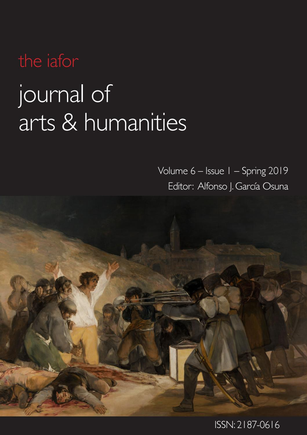 IAFOR Journal of Arts & Humanities: Volume 6 – Issue 1