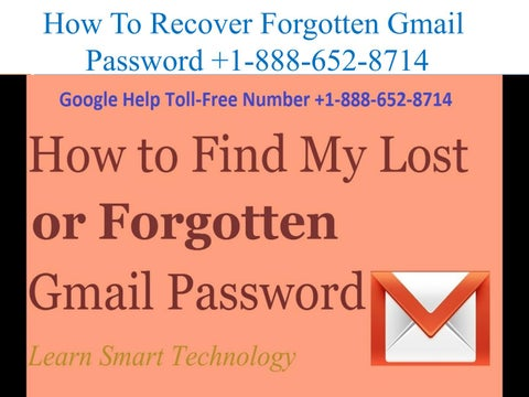 How to Recover Forgotten Password in Gmail   Google Help +1-888-652-8714