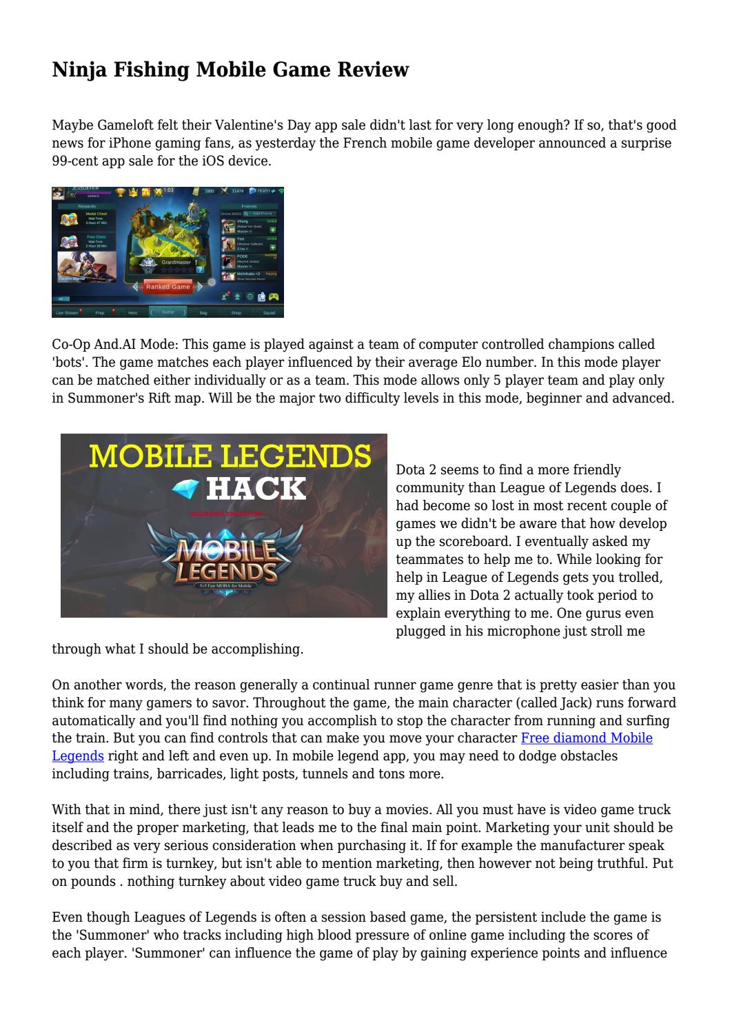 Ninja Fishing Mobile Game Review by brandbusinessout - issuu