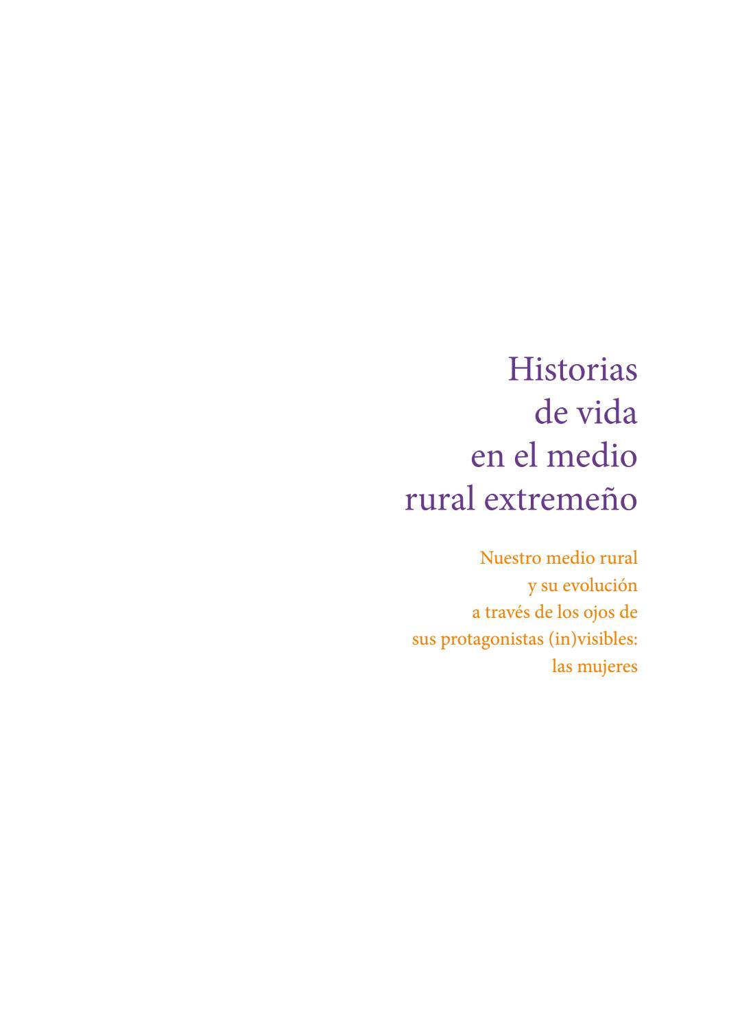 Historias De Vida En El Medio Rural Extremeño By Tetraktys