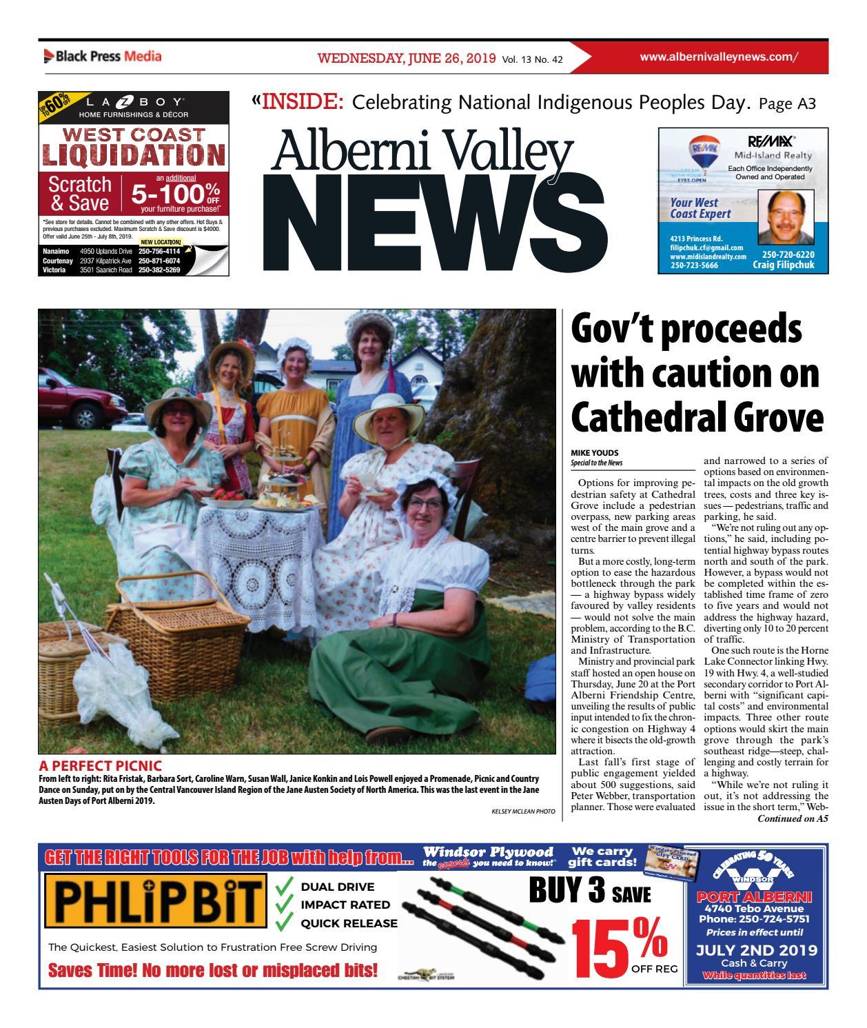 Alberni Valley News, June 26, 2019 by Black Press Media Group - issuu