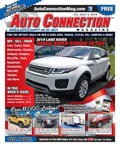 07-04-19 Auto Connection Magazine by Auto Locator and Auto