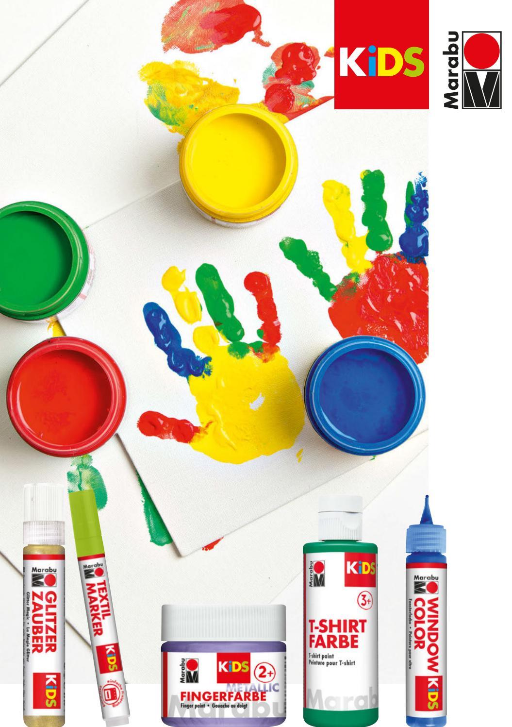 Marabu KiDS Window Color 10er Set farbig sortiert