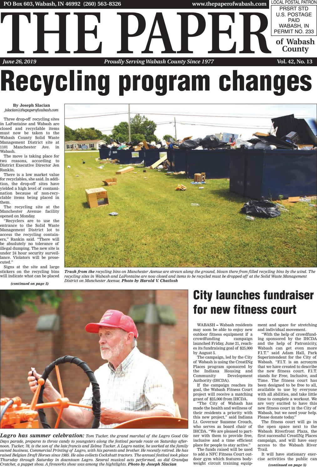 The Paper of Wabash - June 26, 2019 issue by The Paper of