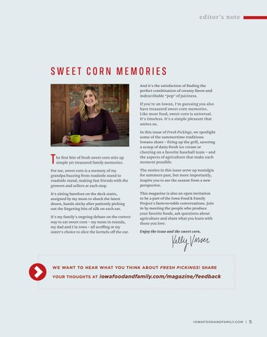 Page 7 of Editor's Note: Sweet Corn Memories