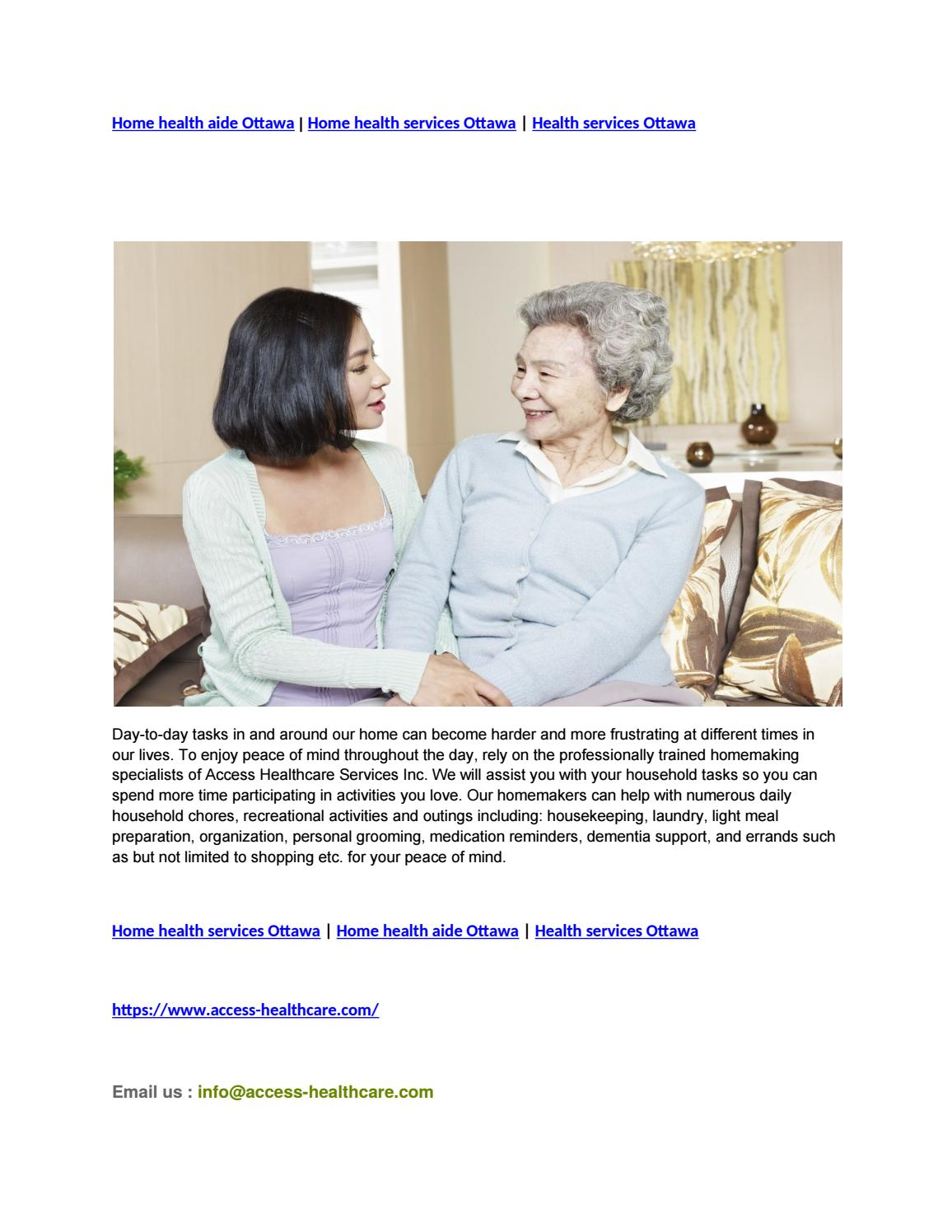 Home Health Aide >> Home Health Aide Ottawa Home Health Services Ottawa