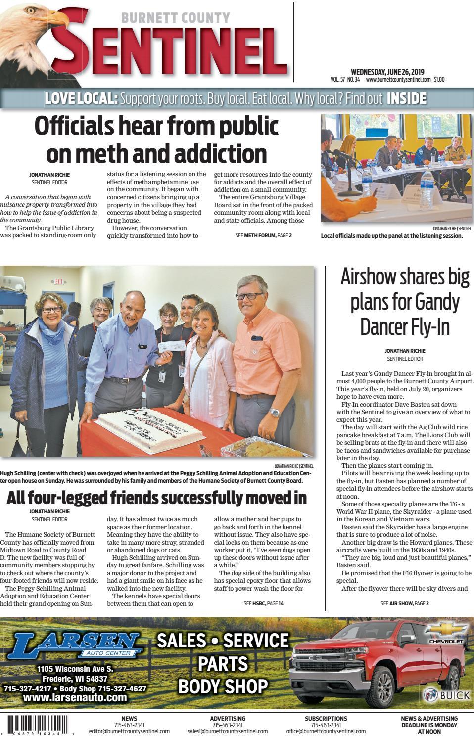 The Burnett County Sentinel 06-26-2019 by Burnett County