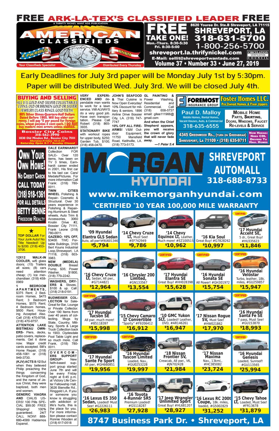 Yellow Cab Shreveport >> American Classifieds Shreveport La June 27th 2019 By