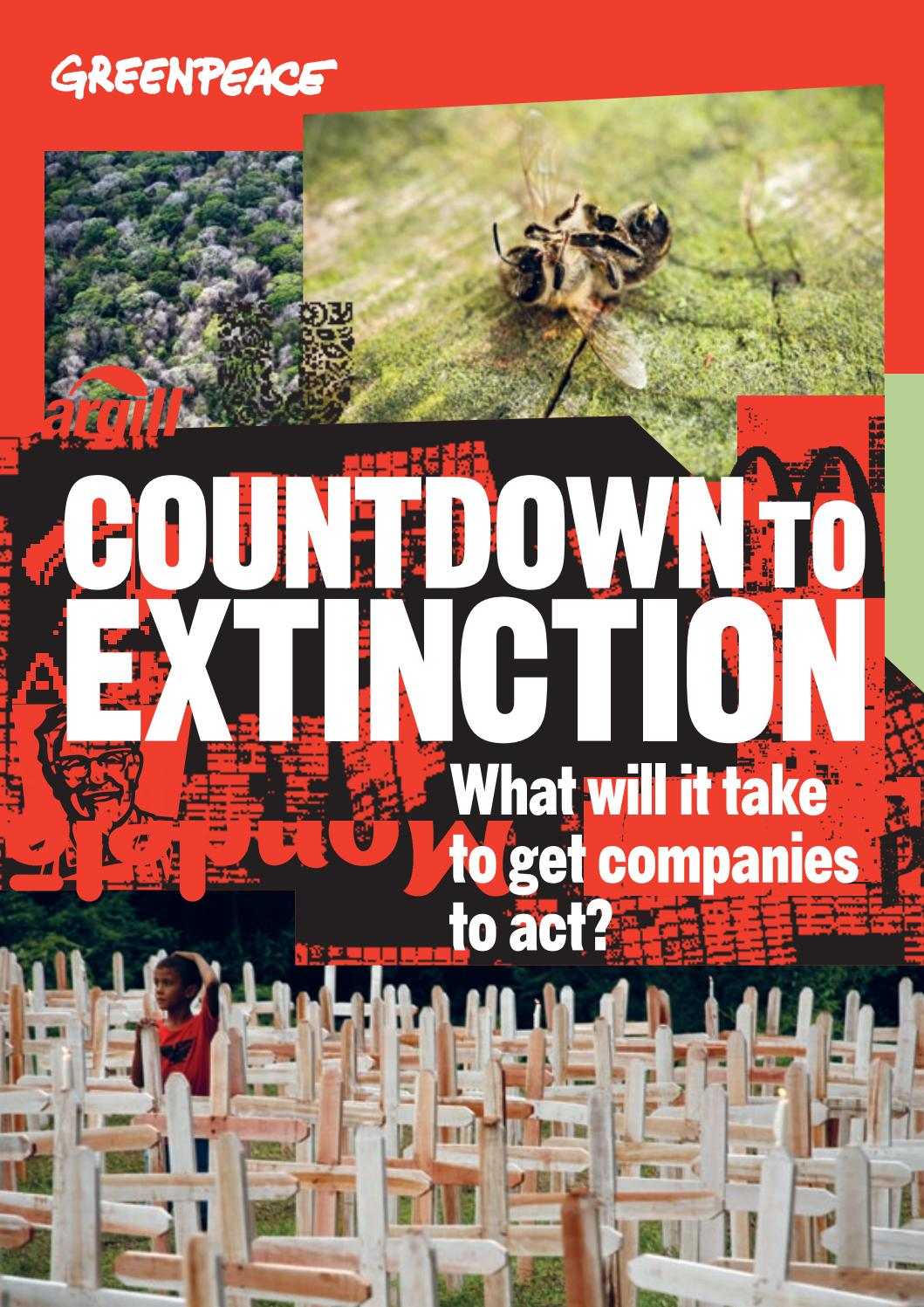 Countdown to Extinction by Greenpeace International - issuu
