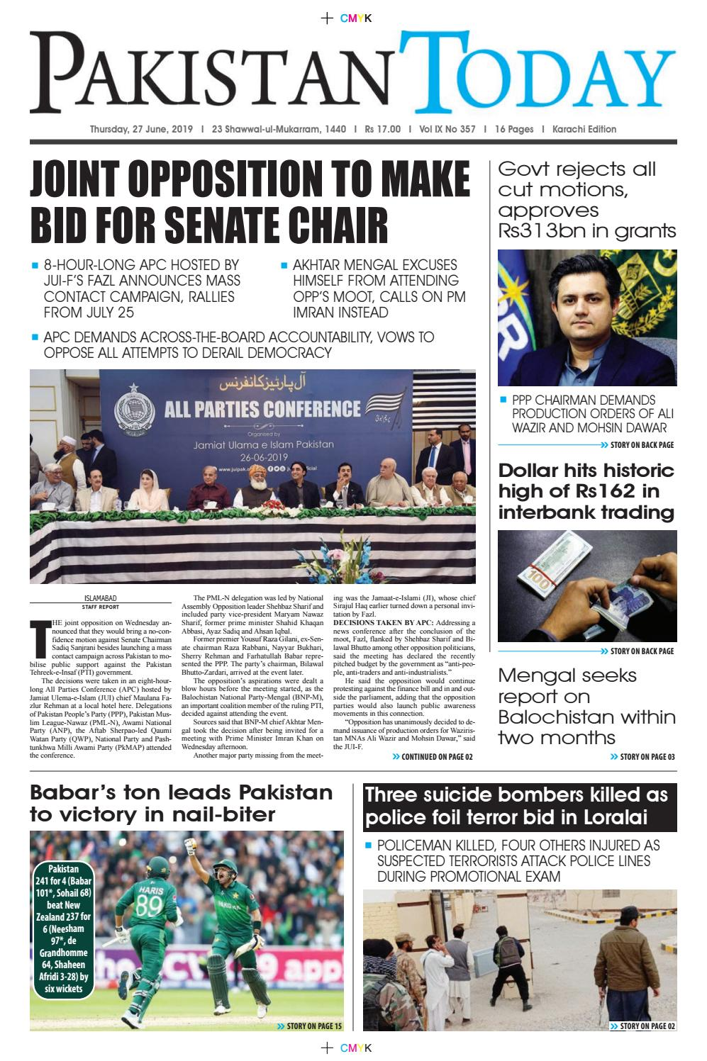 E-Paper PDF 27 June (KHI) by Pakistan Today - issuu