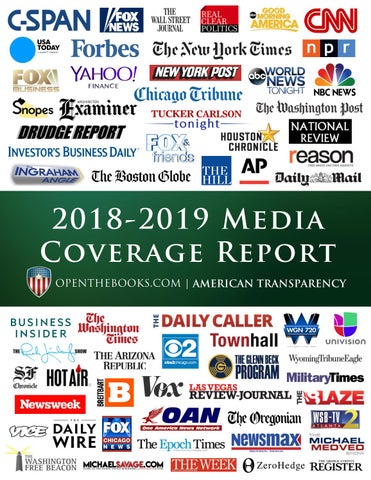 OpenTheBooks Media Coverage Report 2018-2019 by OpenTheBooks