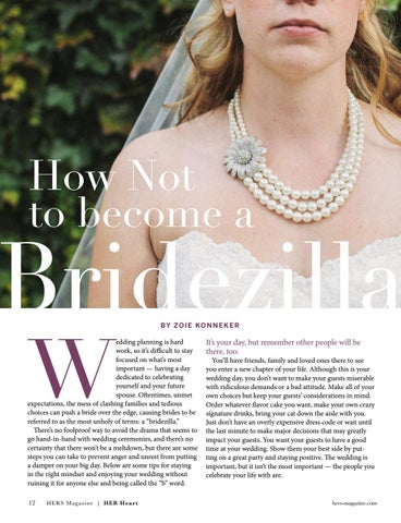 Page 12 of How Not to Become a Bridezilla