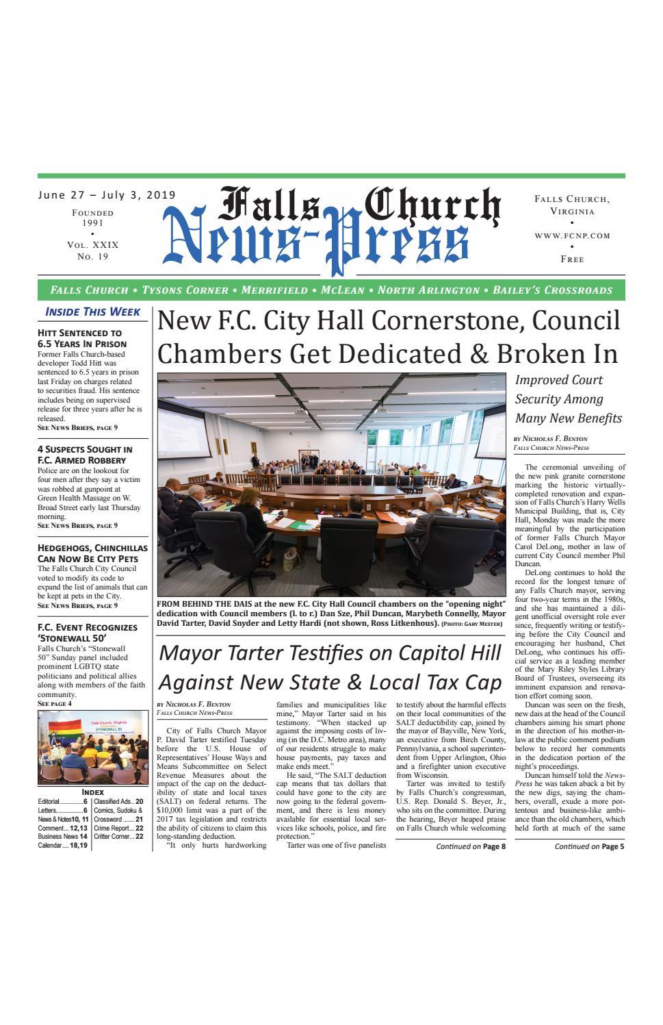 Falls Church News-Press 6-27-2019 by Falls Church News-Press