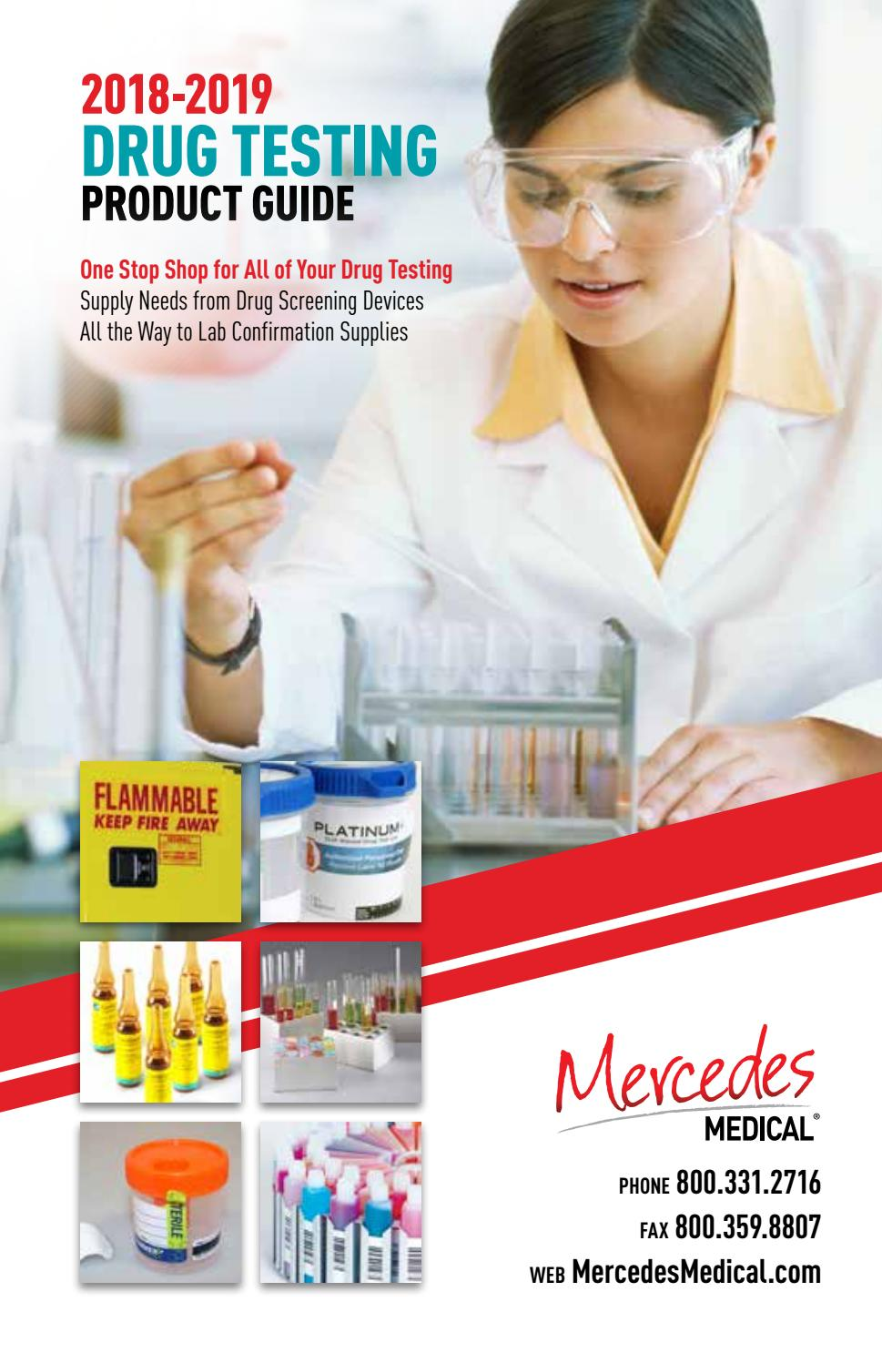 Drug Testing Catalog by Mercedes Scientific - issuu