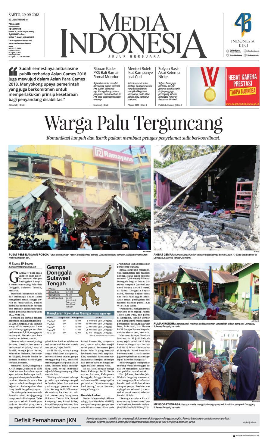 Media Indonesia 29 September 2018 By Mediaindonesia Issuu