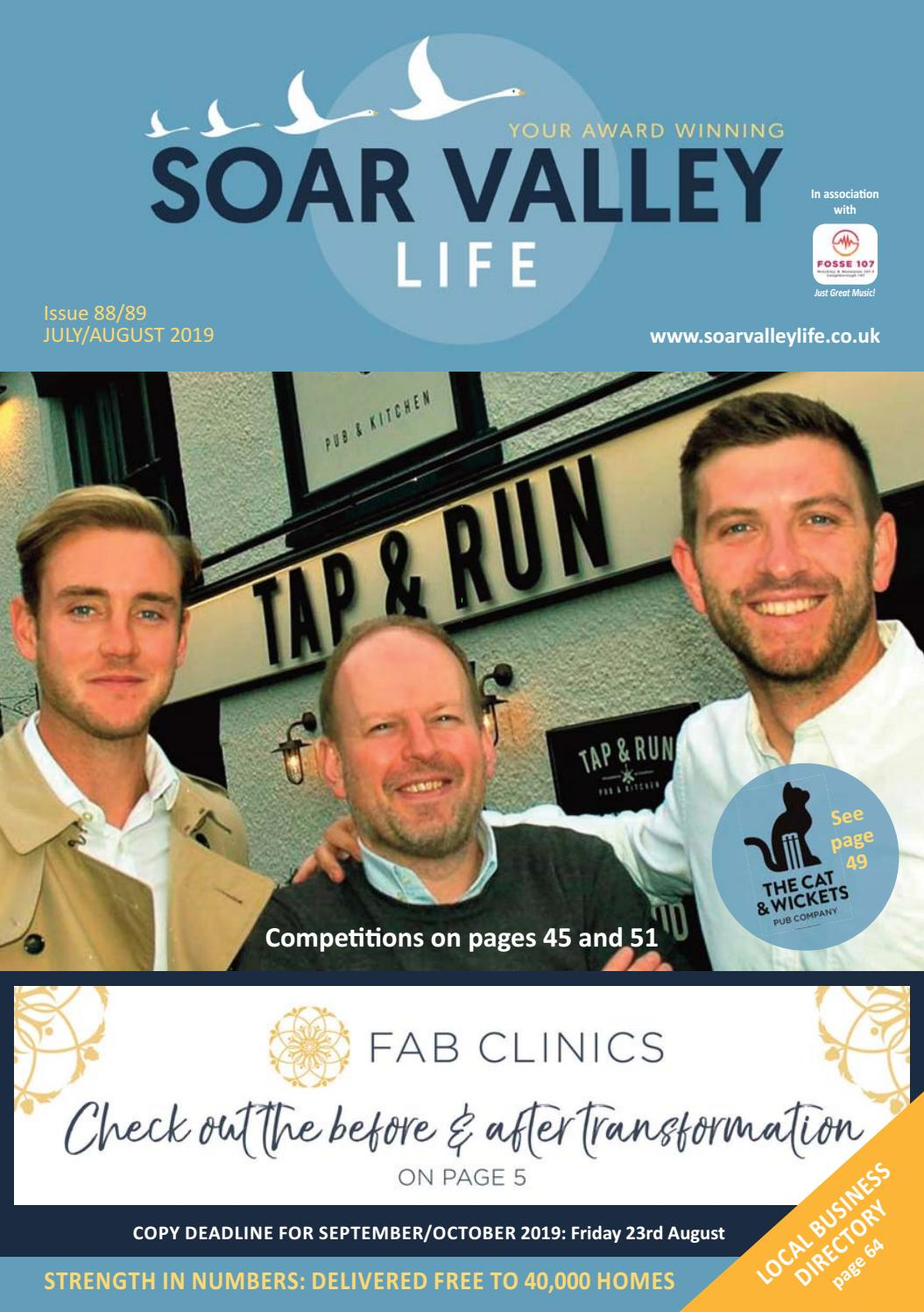 Soar Valley Life July and August 2019 Issue 88/89 by Soar Valley