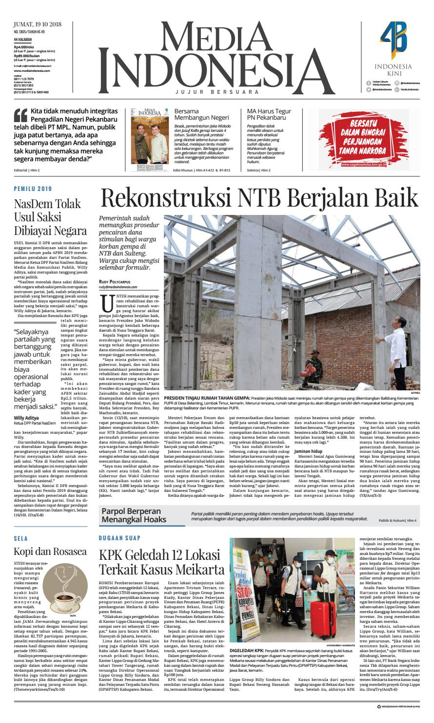 Media Indonesia 19 Oktober 2018 By Mediaindonesia Issuu