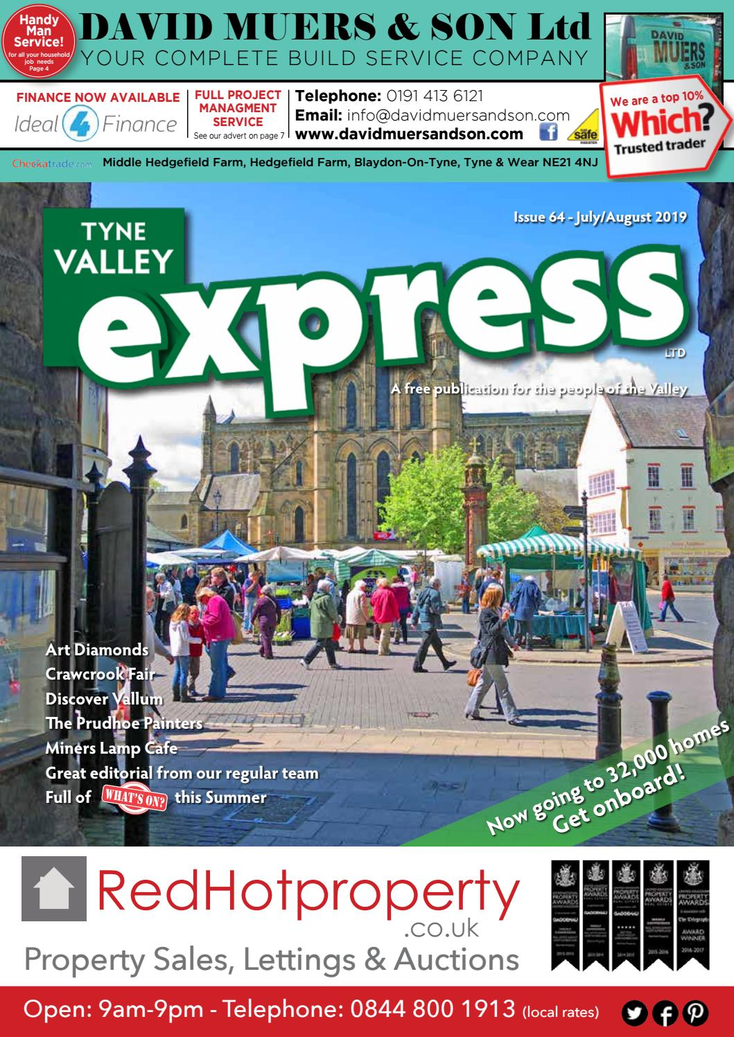Tyne Valley Express Magazine July August Edition By Tyne