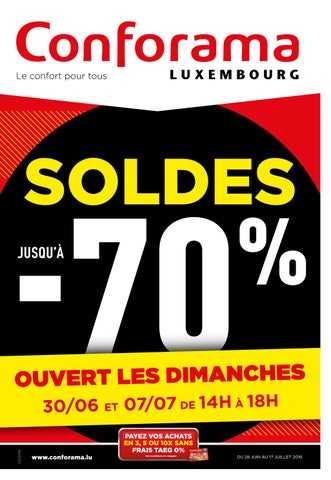 Doc20 Soldes Jusquà 70 By Conforama Luxembourg Issuu