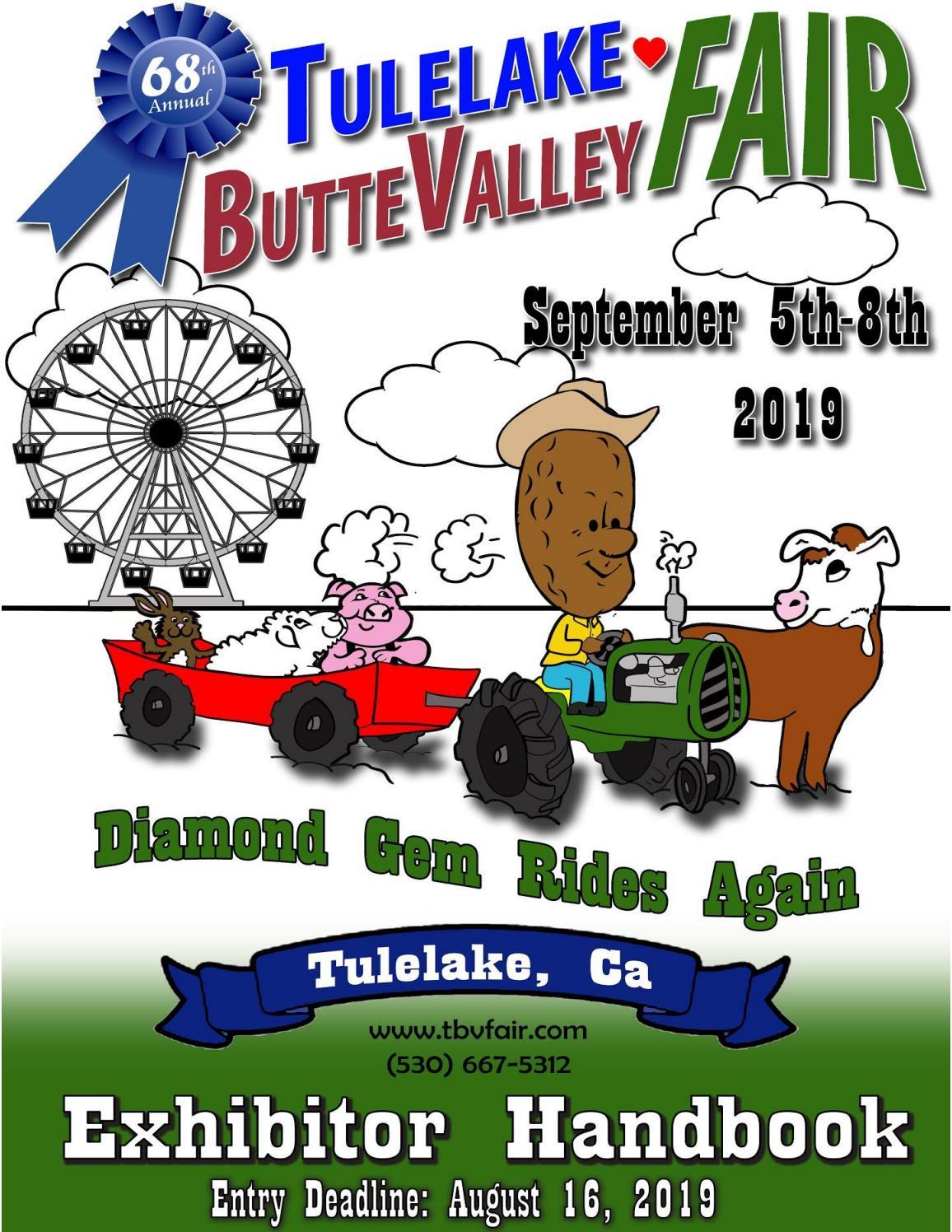 2019 Tulelake-Butte Valley Fair Exhibitor Handbook by EDJE - issuu