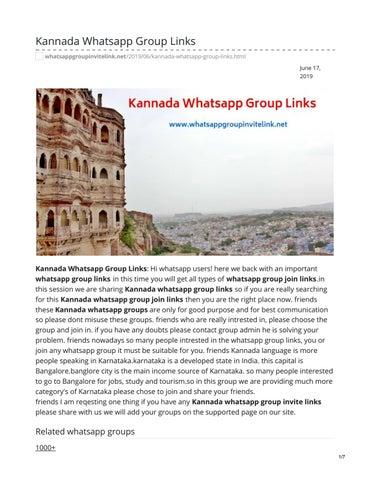 Travel Karnataka_August 1st issue by Narayan m - issuu