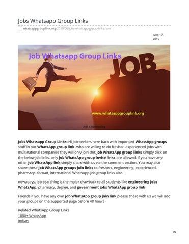 Jobs Whatsapp Group Links by whatsappgrouplinks77 - issuu