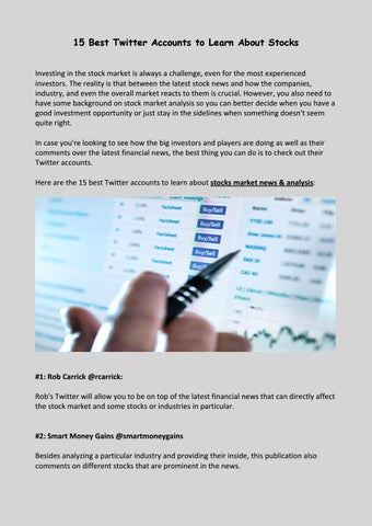 learn about investment accounts