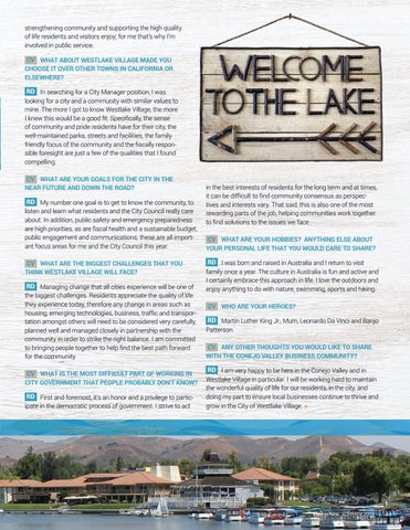 Page 13 of Q & A with Rob de Geus, new City Manager of Westlake Village, CA