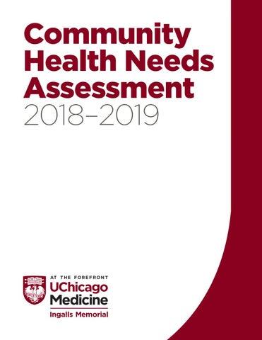 2018-2019 Community Health Needs Assessment - UChicago Medicine