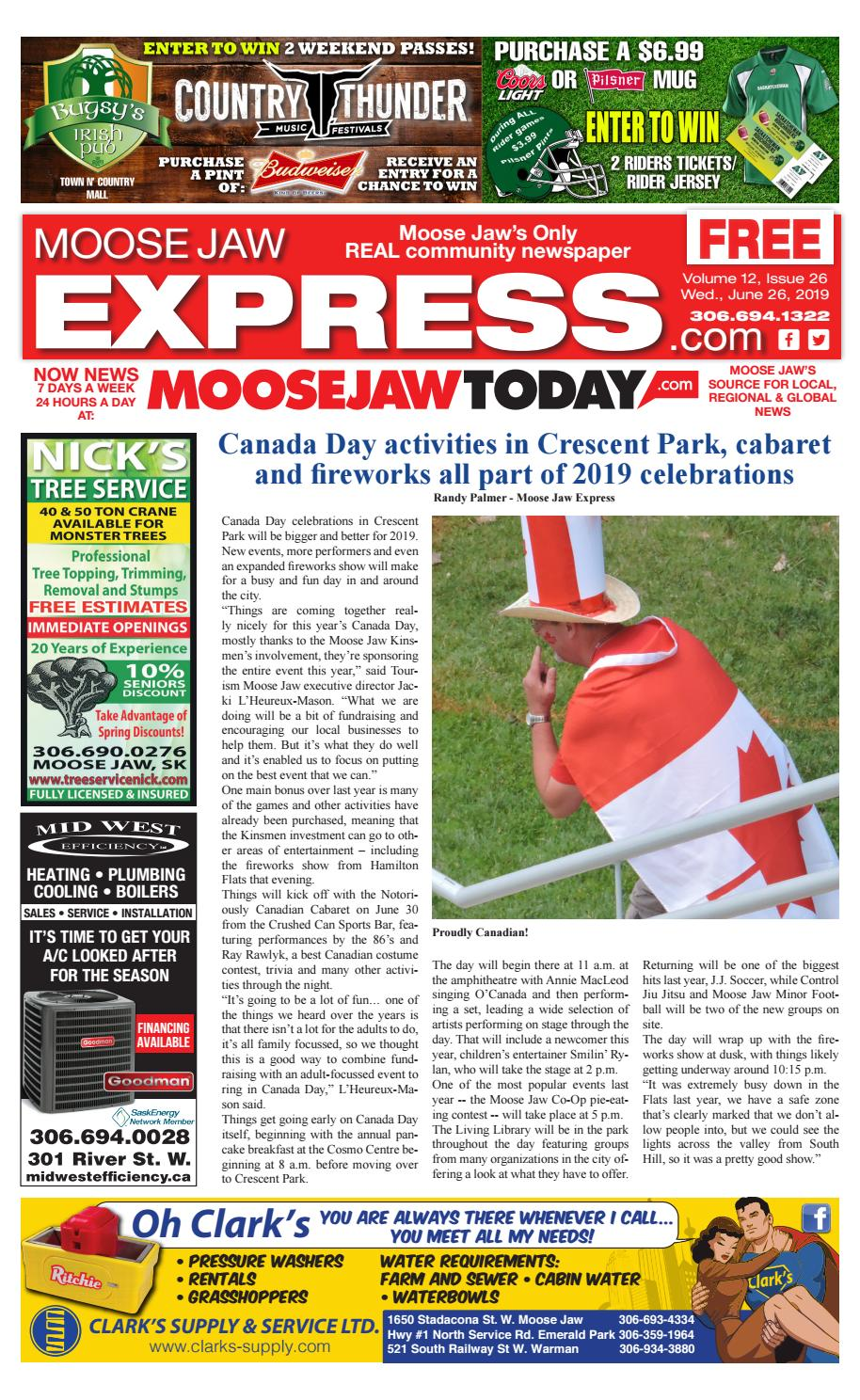 Moose Jaw Express June 26th, 2019 by Moose Jaw Express - issuu