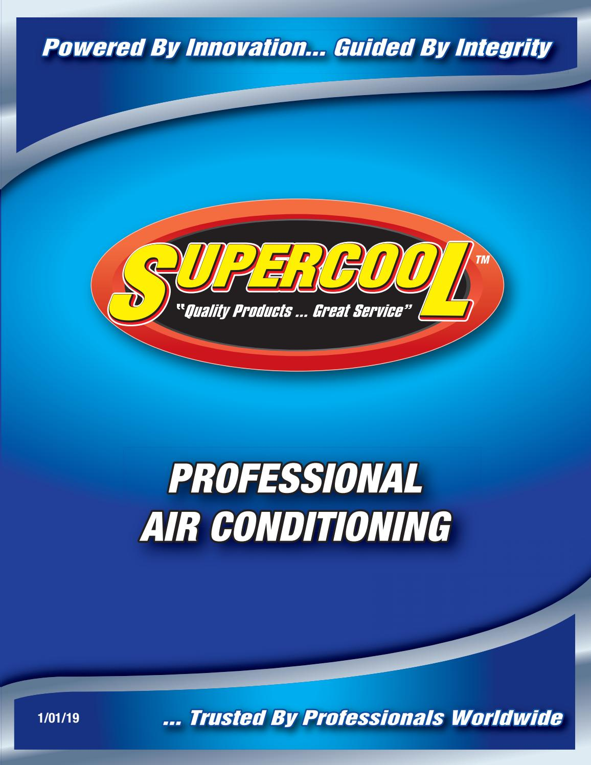 Supercool Professional Air Conditioning Catalog by TSI