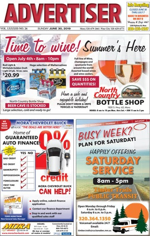 Mora Advertiser 63019 by Kanabec County Times/Pine City Pioneer - issuu