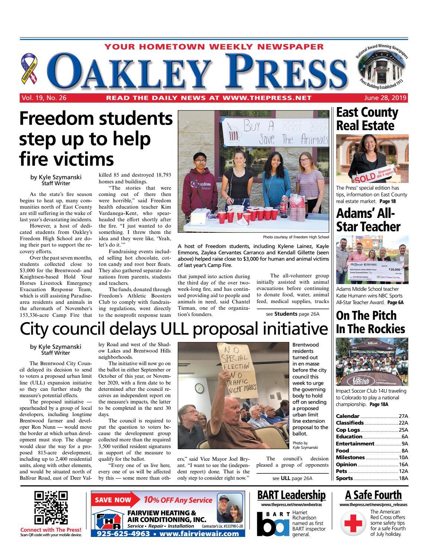 Oakley Press 06 28 19 by Brentwood Press & Publishing - issuu