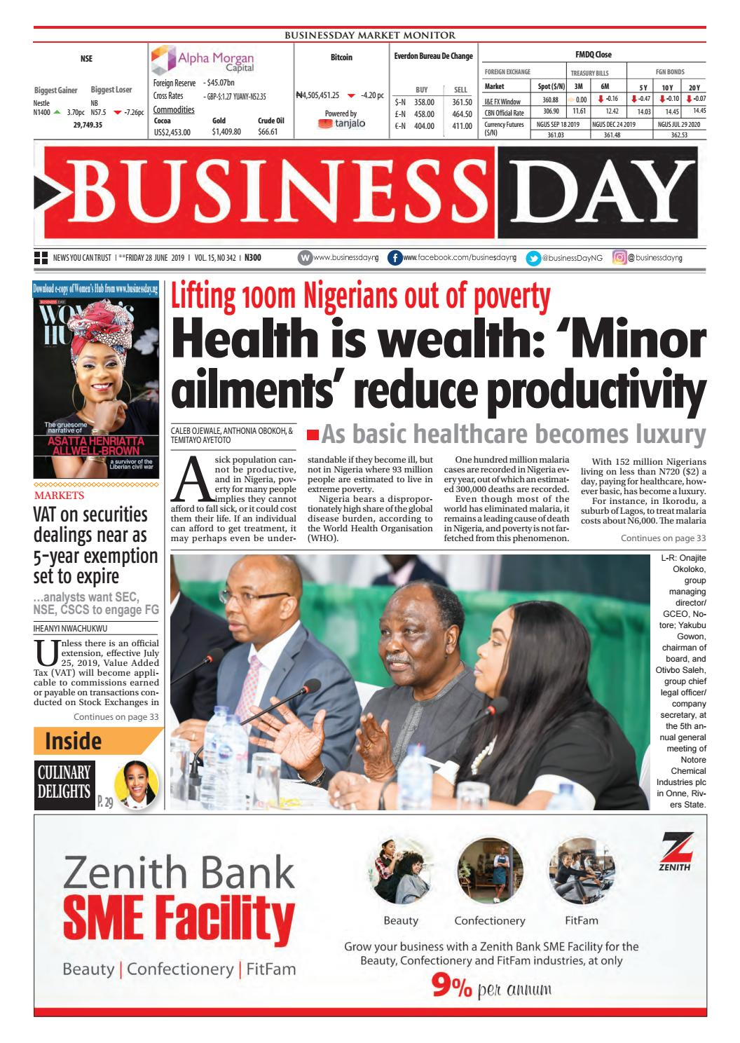 BusinessDay 28 Jun 2019 by BusinessDay - issuu