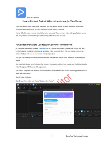 How To Convert Portrait Video To Landscape Or Vice Versa By Ansel Moore Issuu