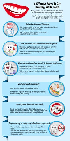 6 Effective Ways To Get Healthy, White Teeth by DonEast