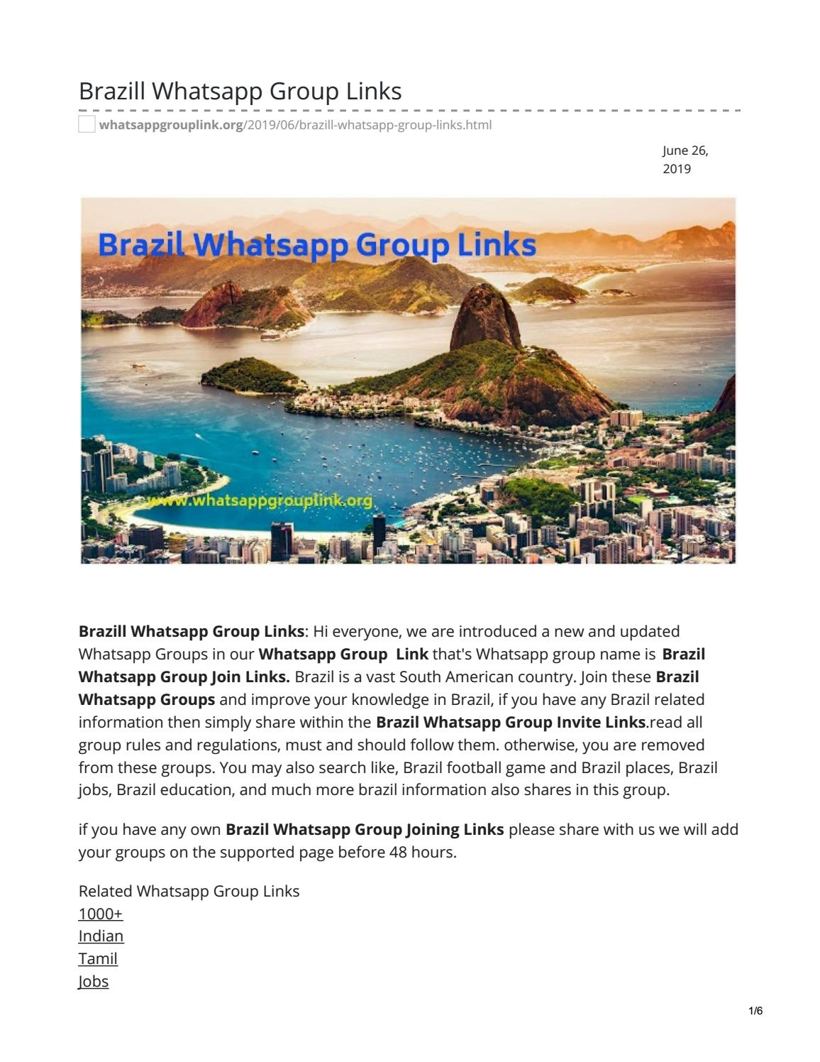 Brazill Whatsapp Group Links by whatsappgrouplinks77 - issuu
