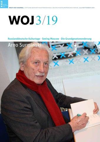 West Ost Journal 32019 By Stiftung Gerhart Hauptmann Haus