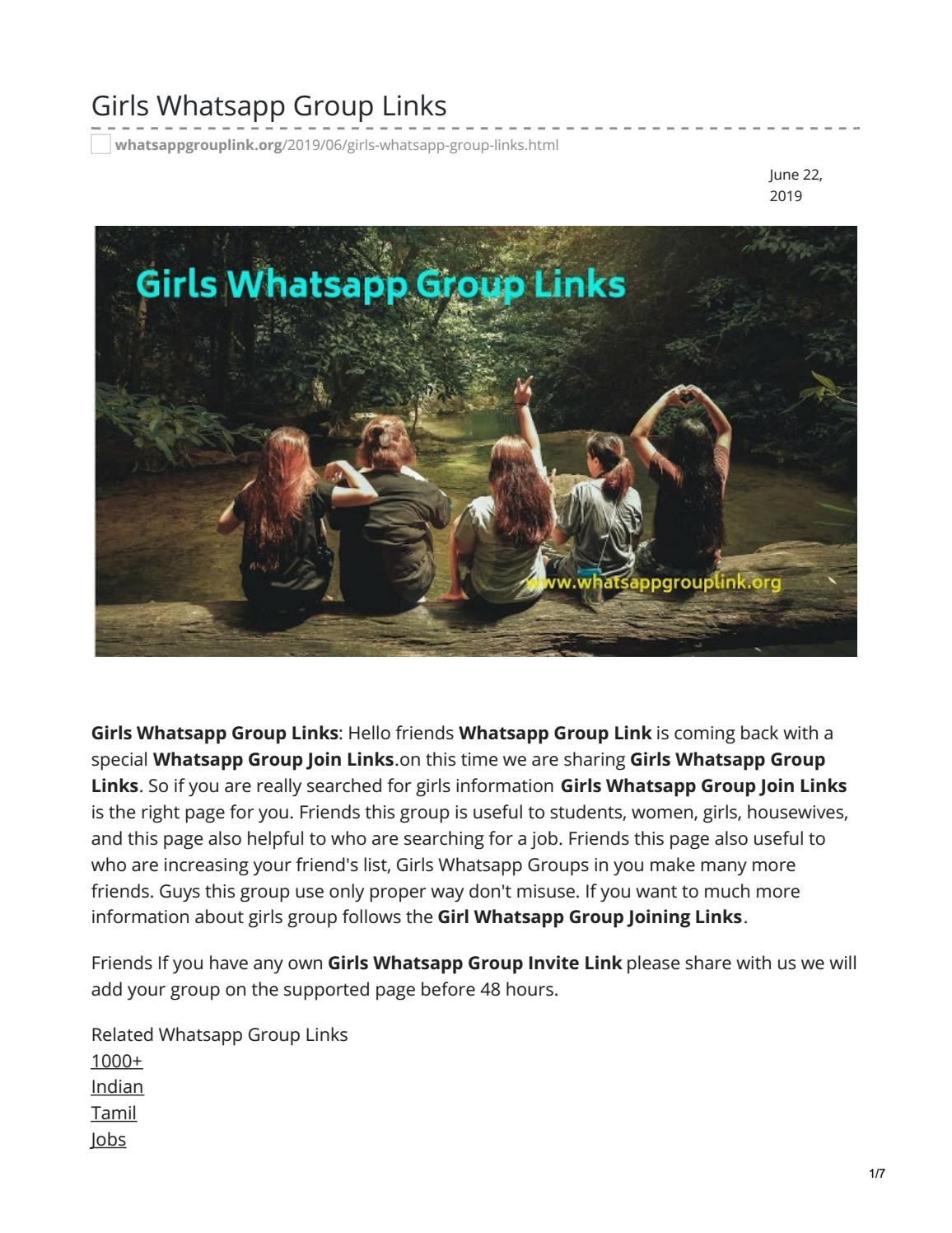 Girls Whatsapp Group Links by whatsappgrouplinks77 - issuu