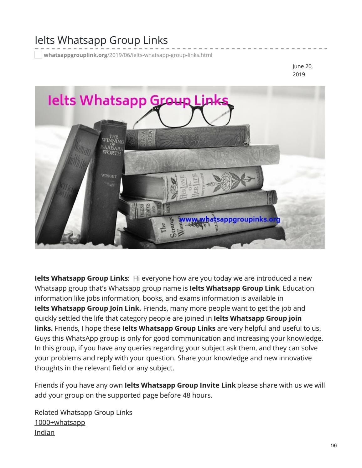 Ielts Whatsapp Group Links by whatsappgrouplinks77 - issuu