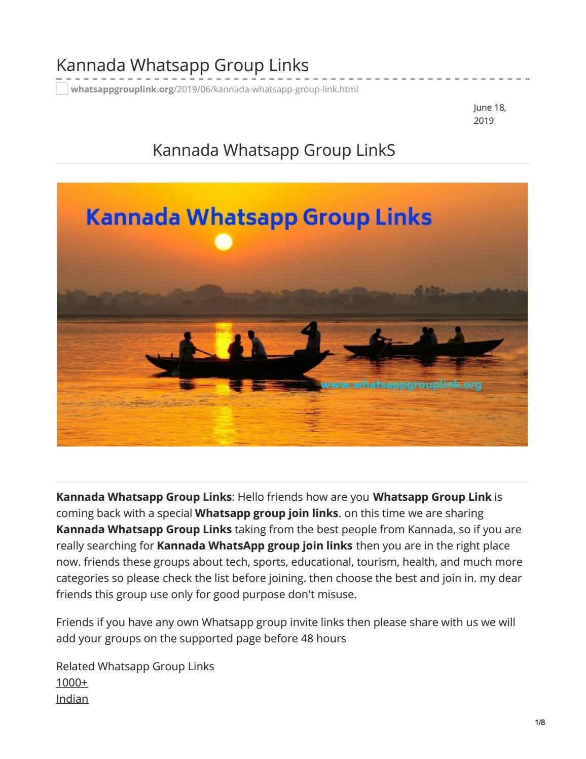 Kannada Whatsapp Group LinkS by whatsappgrouplinks77 - issuu