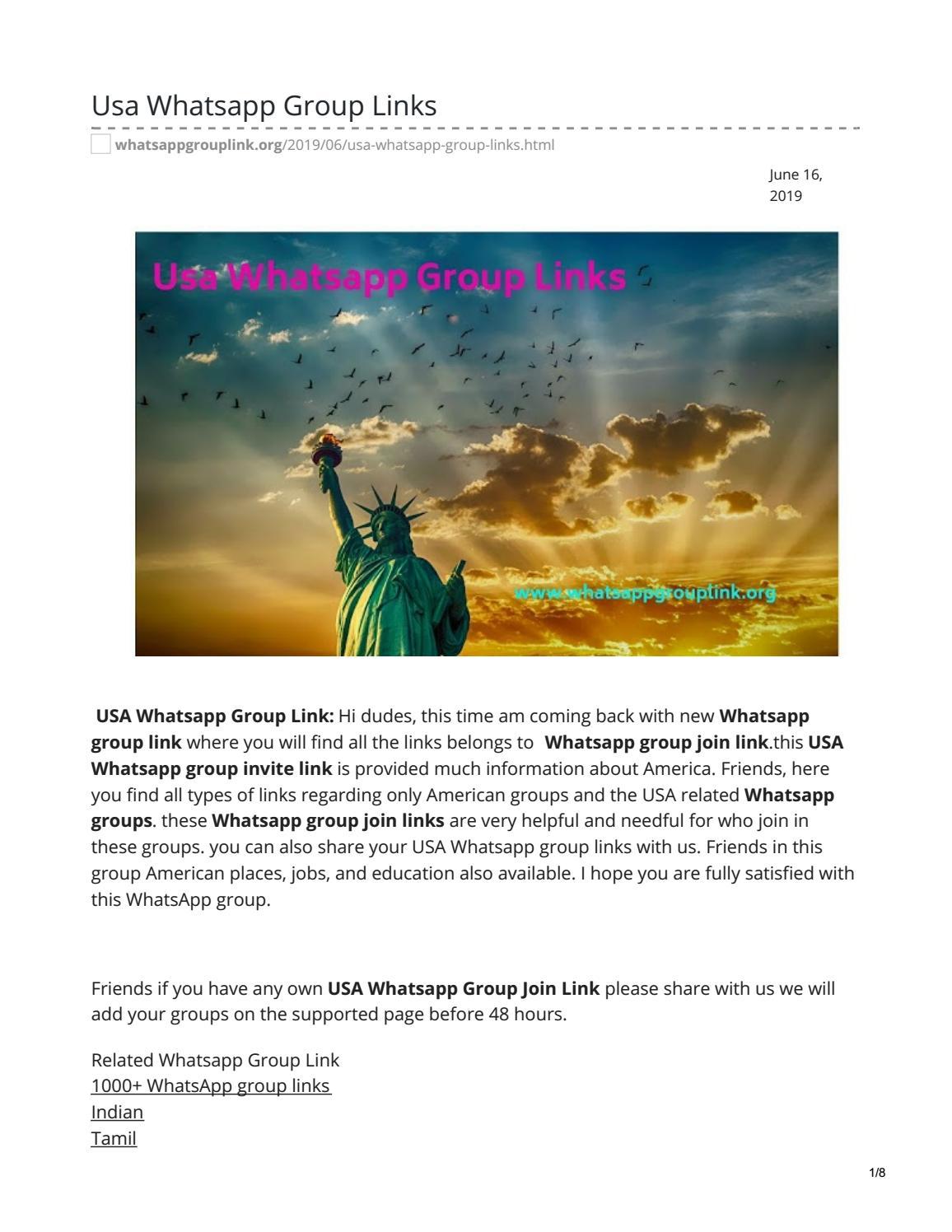 Usa Whatsapp Group Links by whatsappgrouplinks77 - issuu
